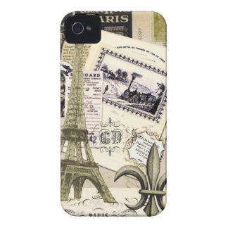 Vintage Paris Collage...Blackberry case iPhone 4 Covers