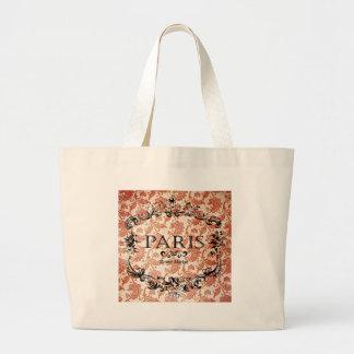 Vintage Paris Damask Large Tote Bag