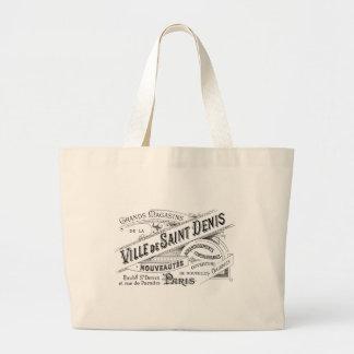 Vintage Paris Deptartment Store Ad Jumbo Tote Bag