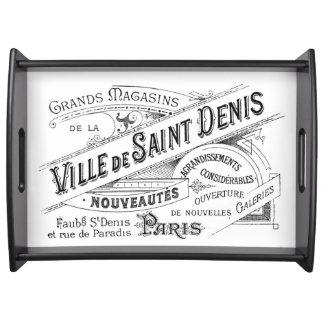 Vintage Paris Deptartment Store Ad Service Tray