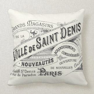 Vintage Paris Deptartment Store Ad Throw Pillows