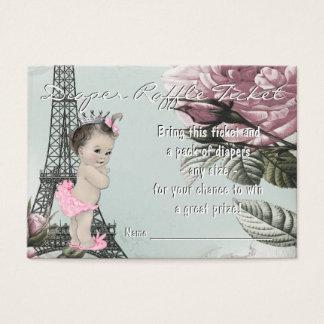 Vintage Paris Diaper Raffle Ticket