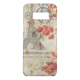 vintage paris eiffel tower autumn orange floral Case-Mate samsung galaxy s8 case