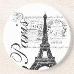 Vintage Paris Eiffel Tower Illustration