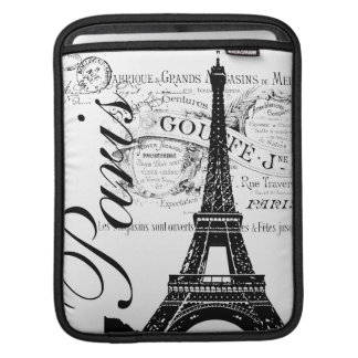 Vintage Paris Eiffel Tower iPad Sleeve