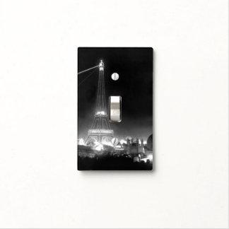 Vintage Paris Eiffel Tower Photo B&W Switchplate