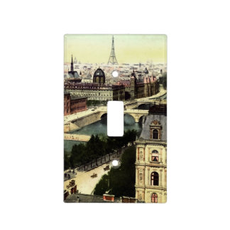 Vintage Paris Eiffel Tower Scene Light Switch Cover