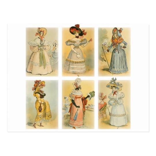 Vintage Paris Fashion (1) Postcard