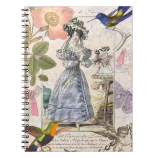 Vintage Paris Fashion  Elegant Collage Notebooks