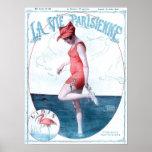 Vintage Paris France Bathing Suit Fashion & Beach Posters