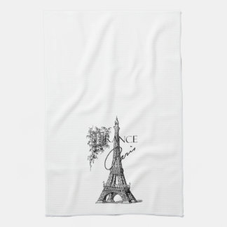 Vintage Paris France Eiffel Tower tea towel