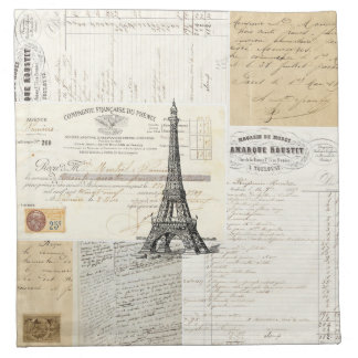 Vintage Paris French Ephemera Napkins
