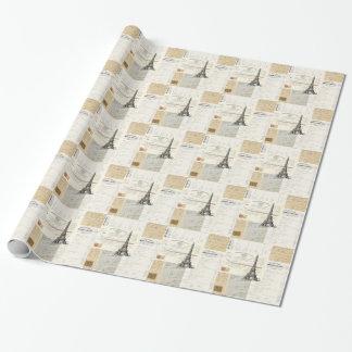 Vintage Paris French Ephemera Wrapping Paper