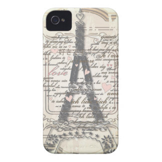 Vintage Paris French Love Gifts iPhone 4 Covers