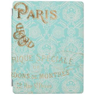 Vintage Paris Gold Design iPad Cover