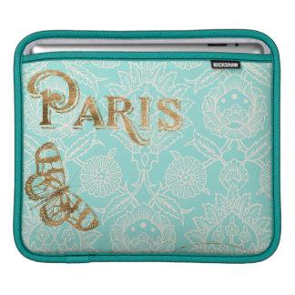 Vintage Paris Gold Design iPad Sleeve