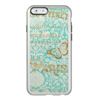 Vintage Paris Gold Design With Butterfly Incipio Feather® Shine iPhone 6 Case