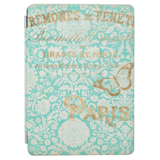 Vintage Paris Gold Design With Butterfly iPad Air Cover
