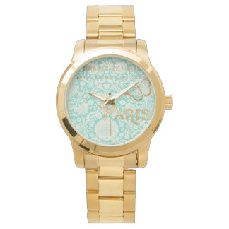 Vintage Paris Gold Design With Butterfly Watches