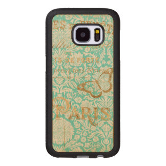 Vintage Paris Gold Design With Butterfly Wood Samsung Galaxy S7 Case