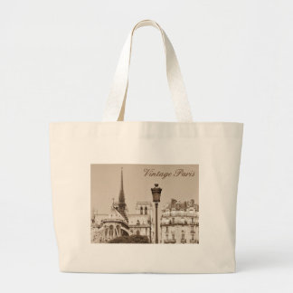 Vintage Paris Large Tote Bag