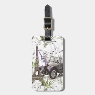 Vintage Paris Luggage Tag