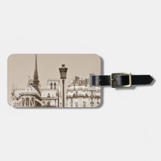 Vintage Paris Luggage Tag