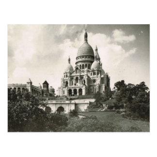 Vintage Paris,Montmatre, Sacre Coeur Postcard
