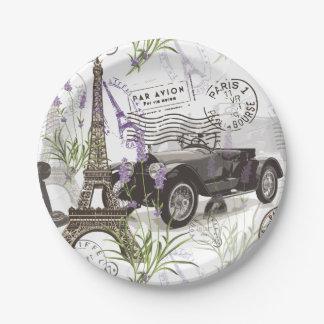 Vintage Paris Paper Plate