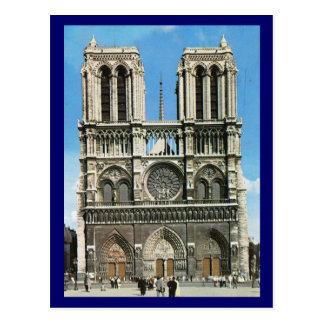 Vintage Paris, Paris Notre Dame de Paris Postcard