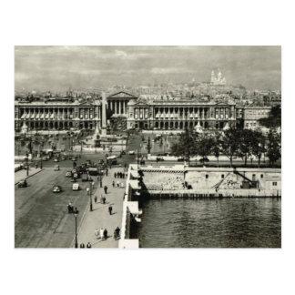 Vintage Paris, Paris, Place de la Concorde Postcard