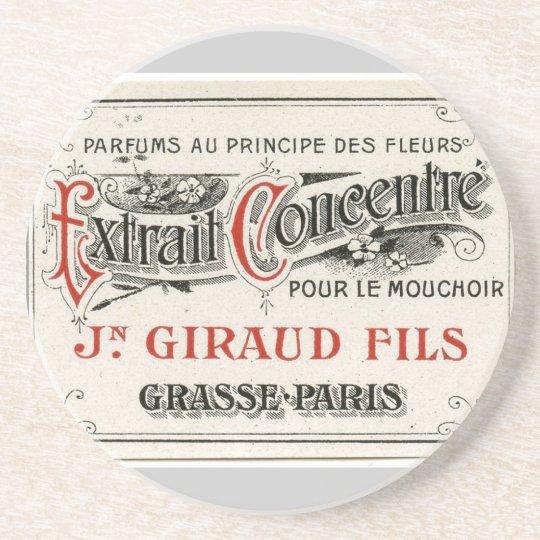 Vintage Paris Perfume Label Coaster