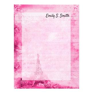 Vintage Paris Personalized Valentine Writing Paper