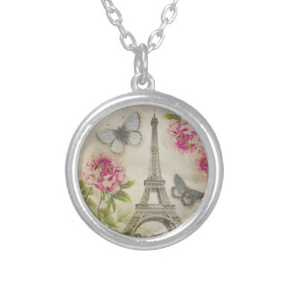 Vintage Paris Pink Peonies necklace