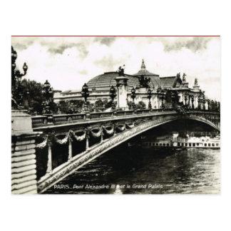 Vintage Paris,Pont Alexandre III, Grand Palais Postcard