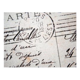 Vintage Paris Post Card, Cher Camille.... Postcard