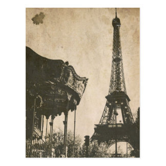 Vintage Paris Postcard, Eiffel Tower Postcard