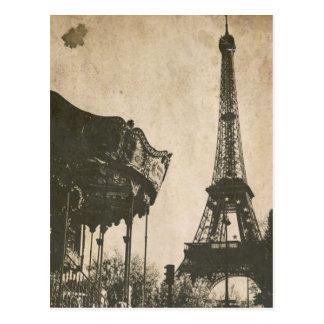 Vintage Paris Postcard, Eiffel Tower Postcard