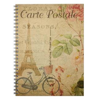Vintage Paris Postcard Notebook