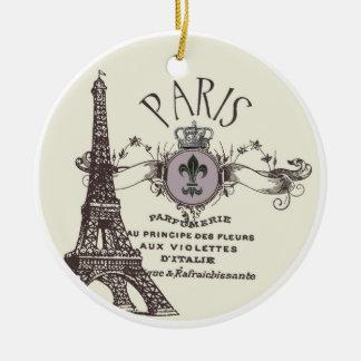 Vintage Paris Romance...ornament Ceramic Ornament