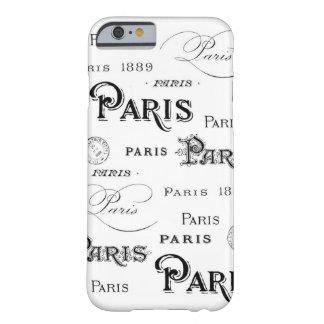 Vintage Paris Script Barely There iPhone 6 Case