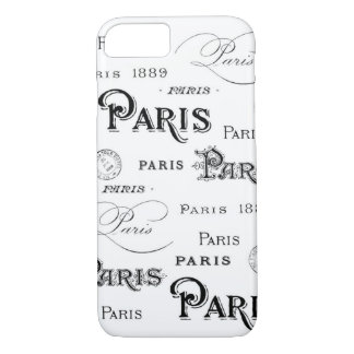 Vintage Paris Script iPhone 7 Case