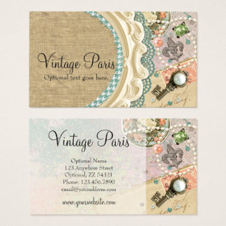 Vintage Paris Shabby Chic French Jewelry Boutique Business Card