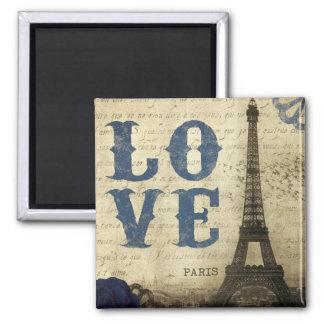Vintage Paris Square Magnet
