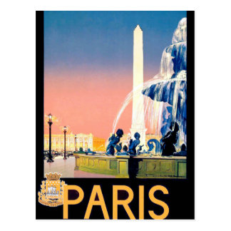 Vintage Paris Travel Advertisement Postcard