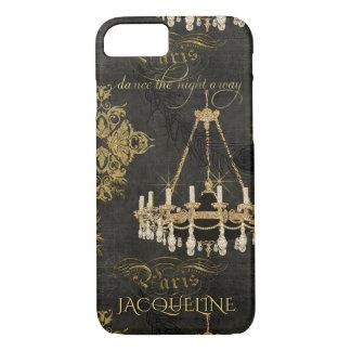Vintage Paris Typography Chandelier Dance Name iPhone 8/7 Case