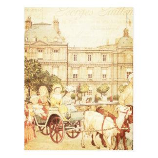 Vintage Paris Victorian Children Storybook Collage Postcard