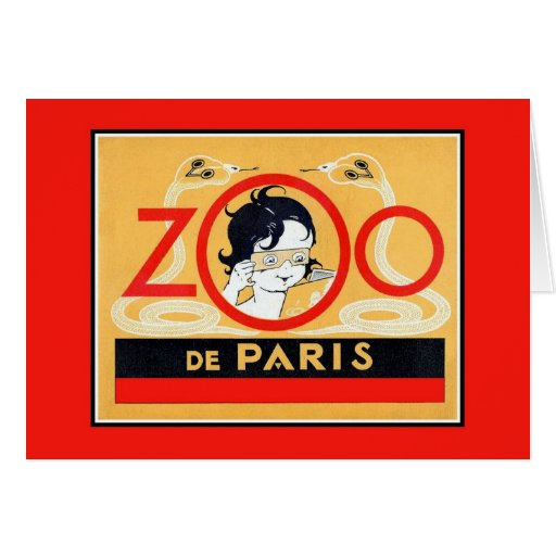 Vintage Paris Zoo stereoscopes advertising Greeting Cards
