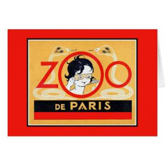 Vintage Paris Zoo stereoscopes advertising Greeting Card