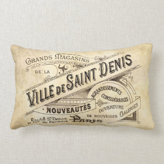 Vintage Parisian Advertising Villa Saint Lumbar Pillow
